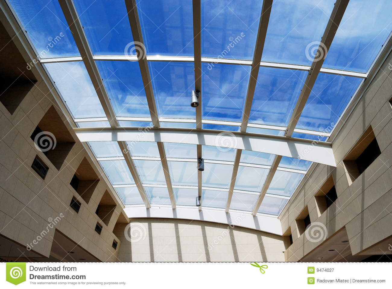 glass roof of the fine arts school in paris stock photo. Black Bedroom Furniture Sets. Home Design Ideas