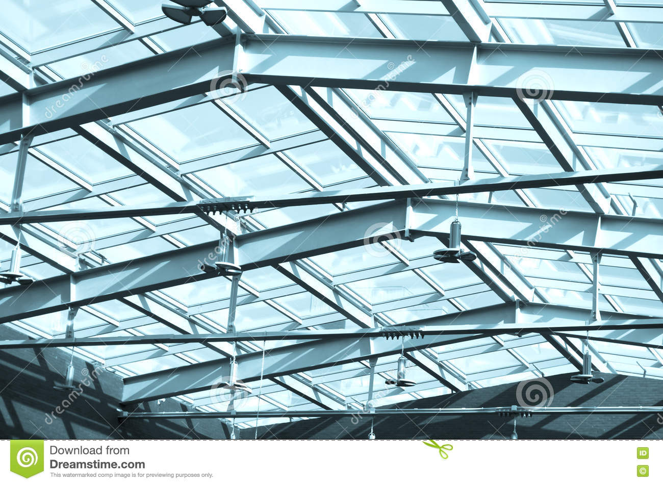 glass roof in building under the roof glass and metal. Black Bedroom Furniture Sets. Home Design Ideas