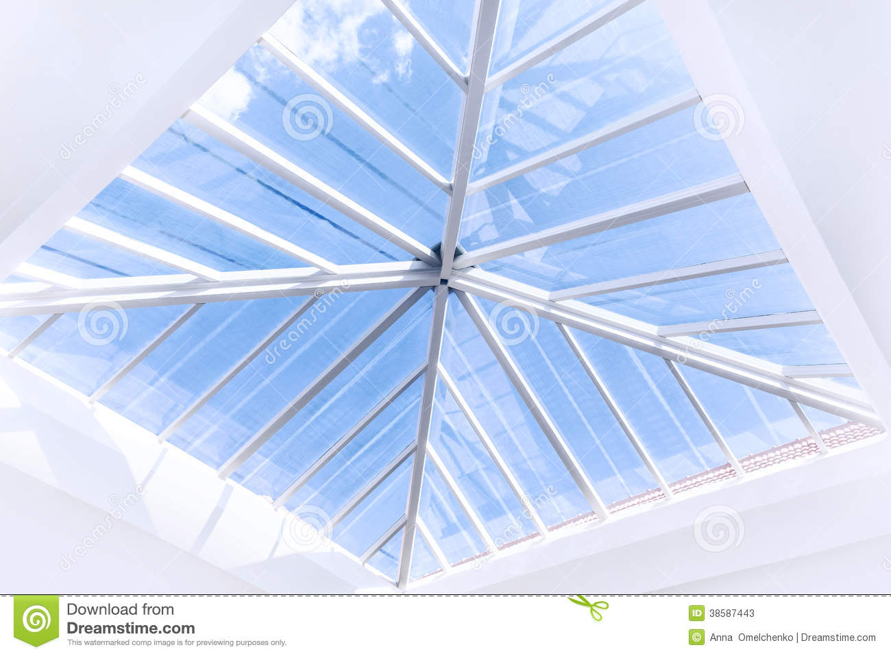 Glass roof design stock photos image 38587443