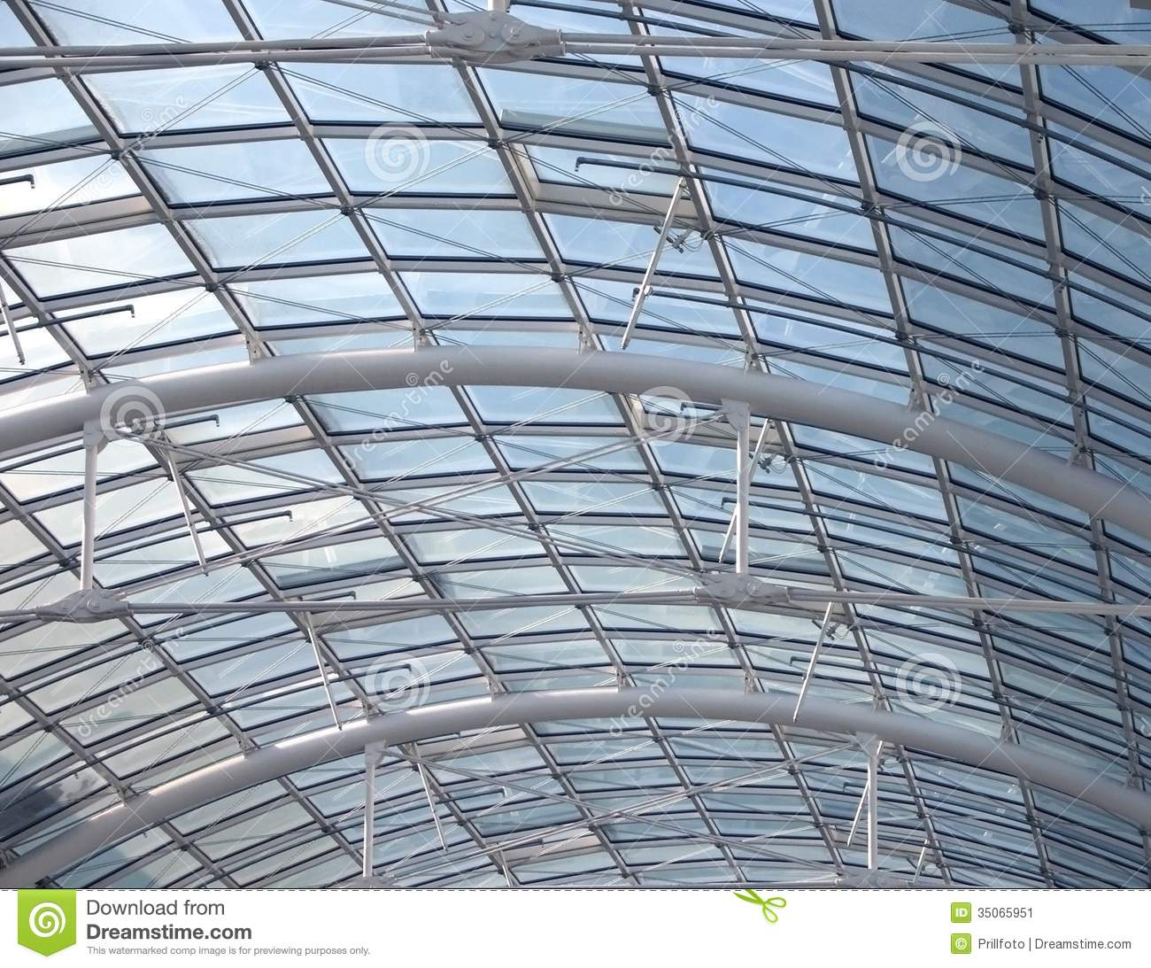 Glass Roof Detail Stock Image Image Of Coeval High