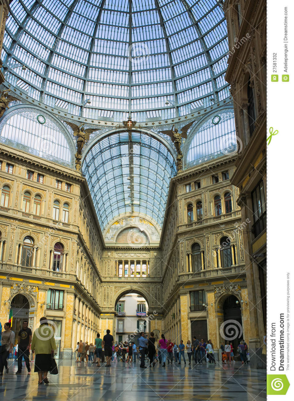 Glass Roof Galleria Naples Italy Editorial Photography