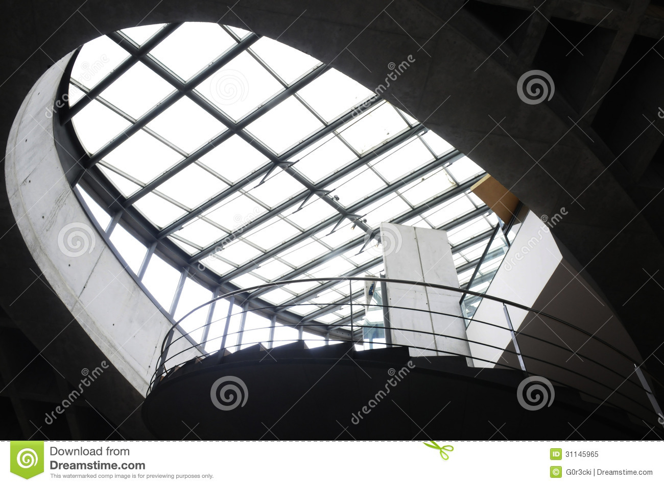 Glass Roof And Steel Structure Modern Architecture