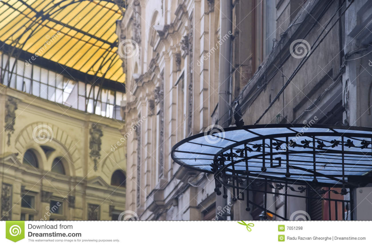 Download Glass Roofs-Macca-Villacrosse Passage-Bucharest Stock Photo - Image of yellow, light: 7051298