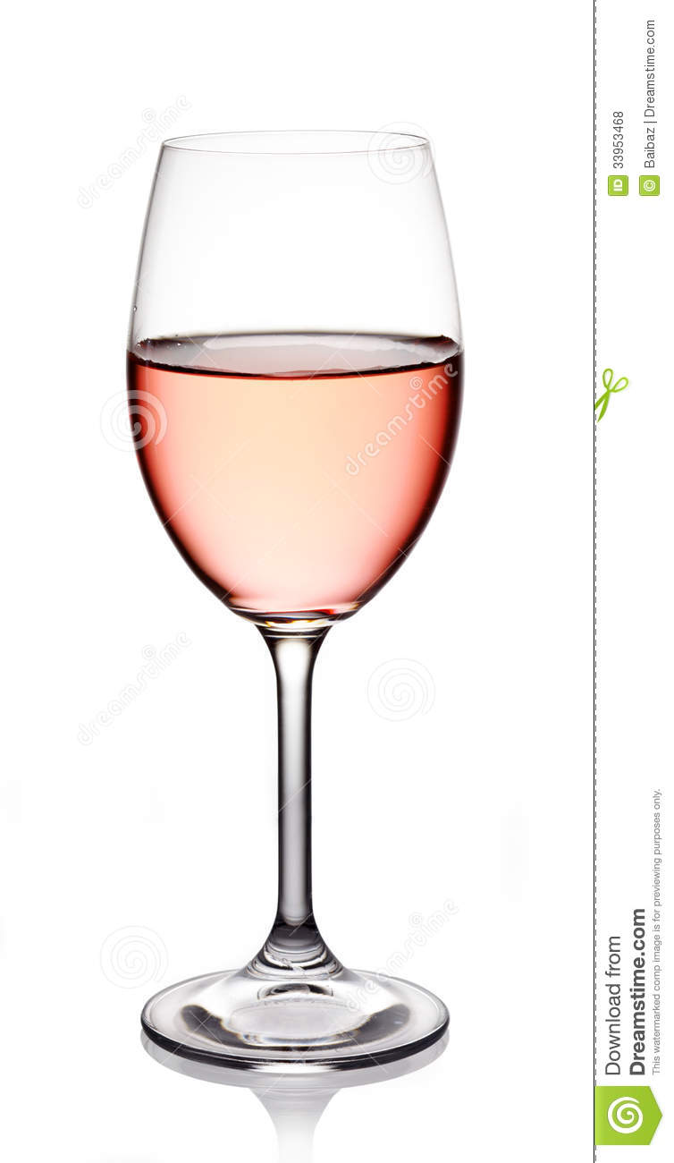 Glass Of Rose Wine Royalty Free Stock Photos - Image: 33953468