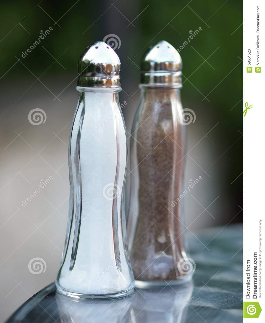 Glass Salt And Pepper Shakers Stock Photo Image 58551520