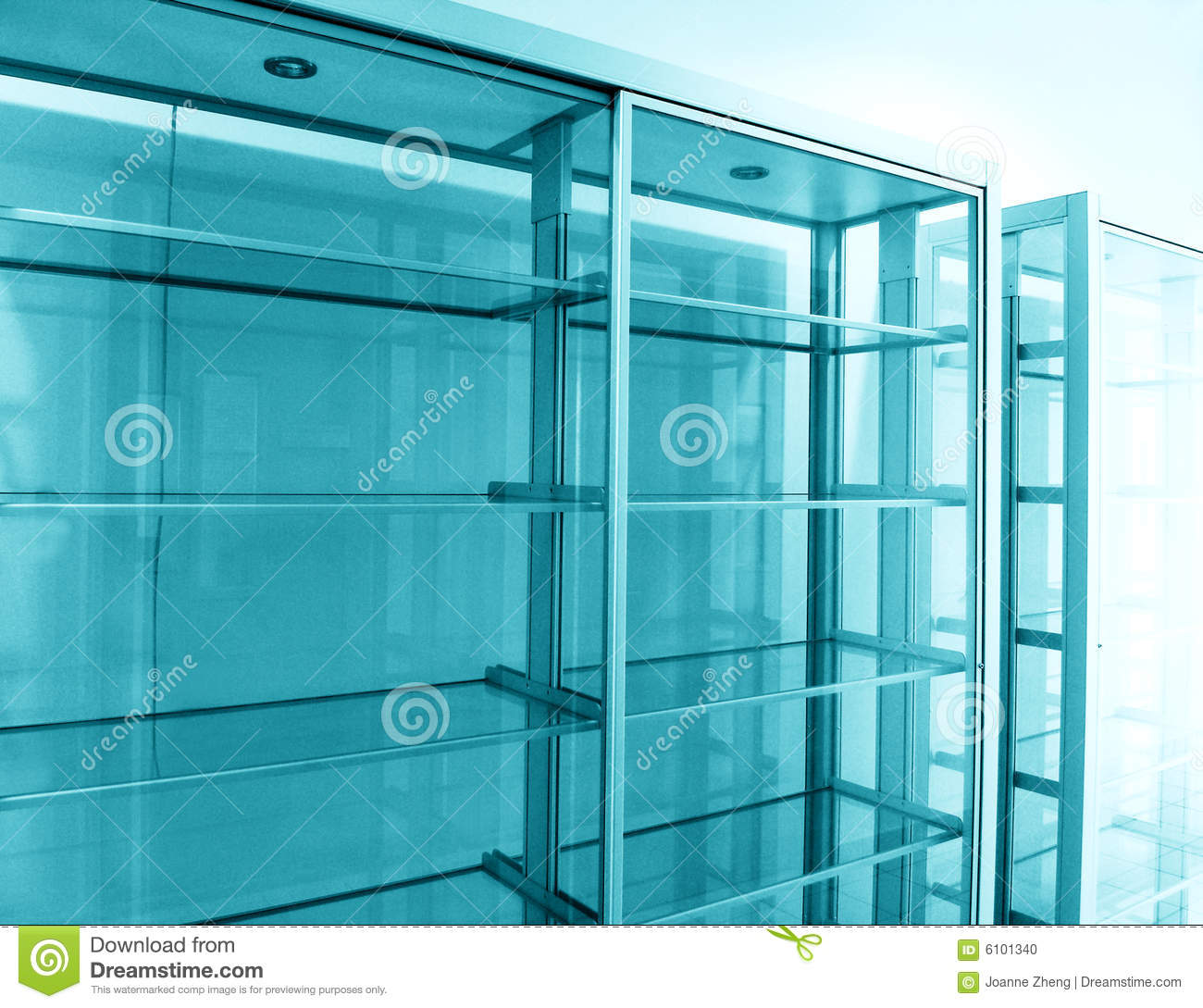 Glass Shelf Empty Stock Photo Image 6101340