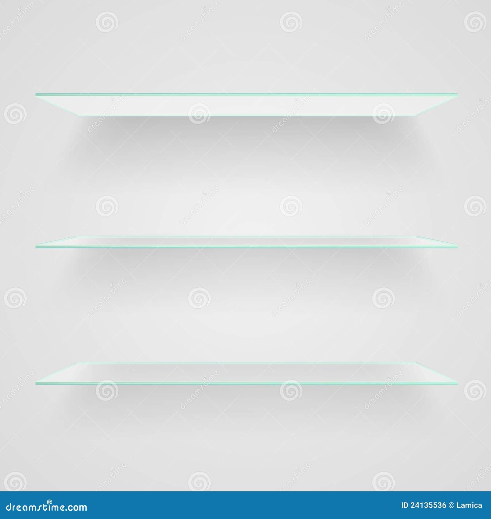 Glass Shelves Royalty Free Stock Image Image 24135536