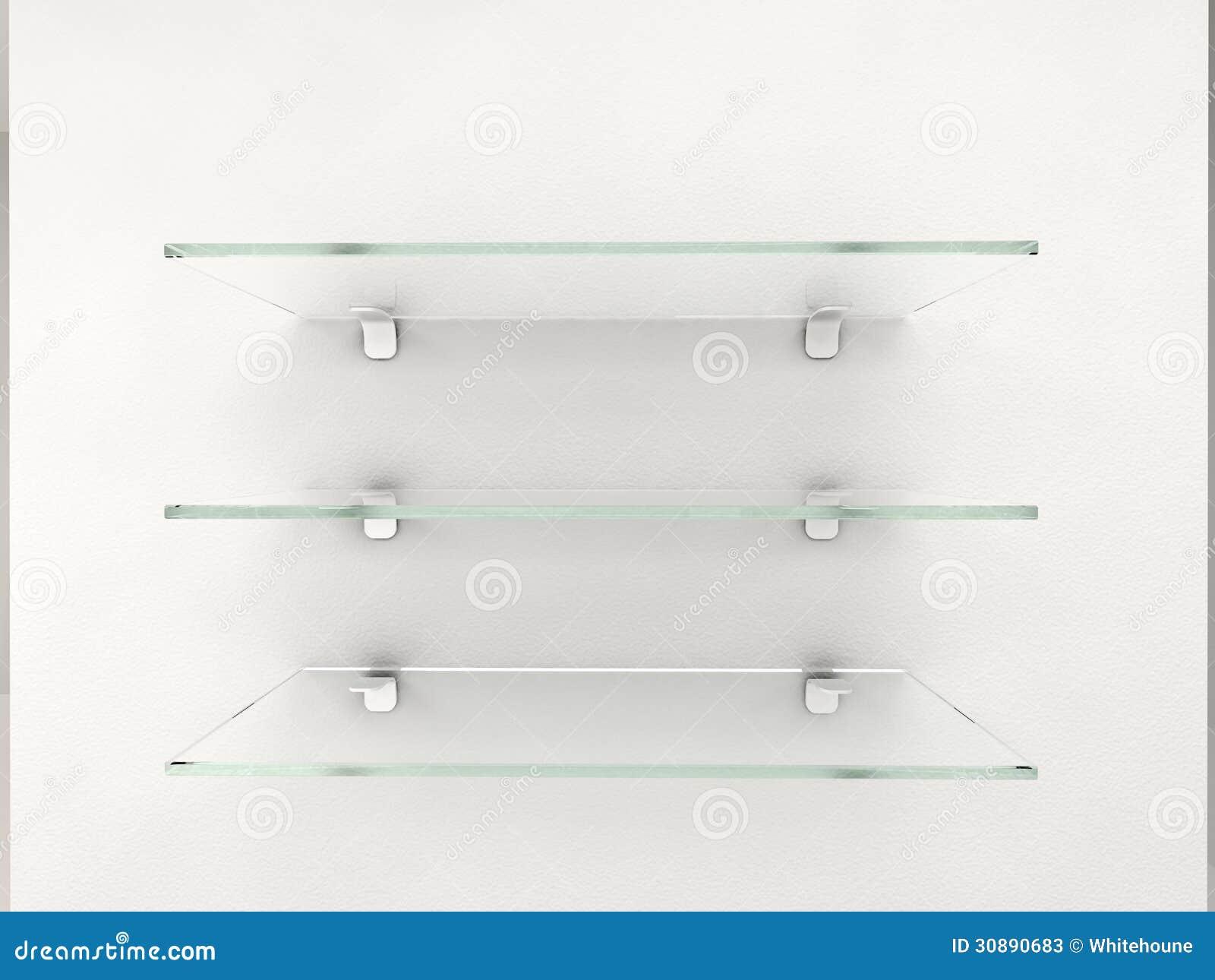 Glass Shelves Stock Photos - Image: 30890683