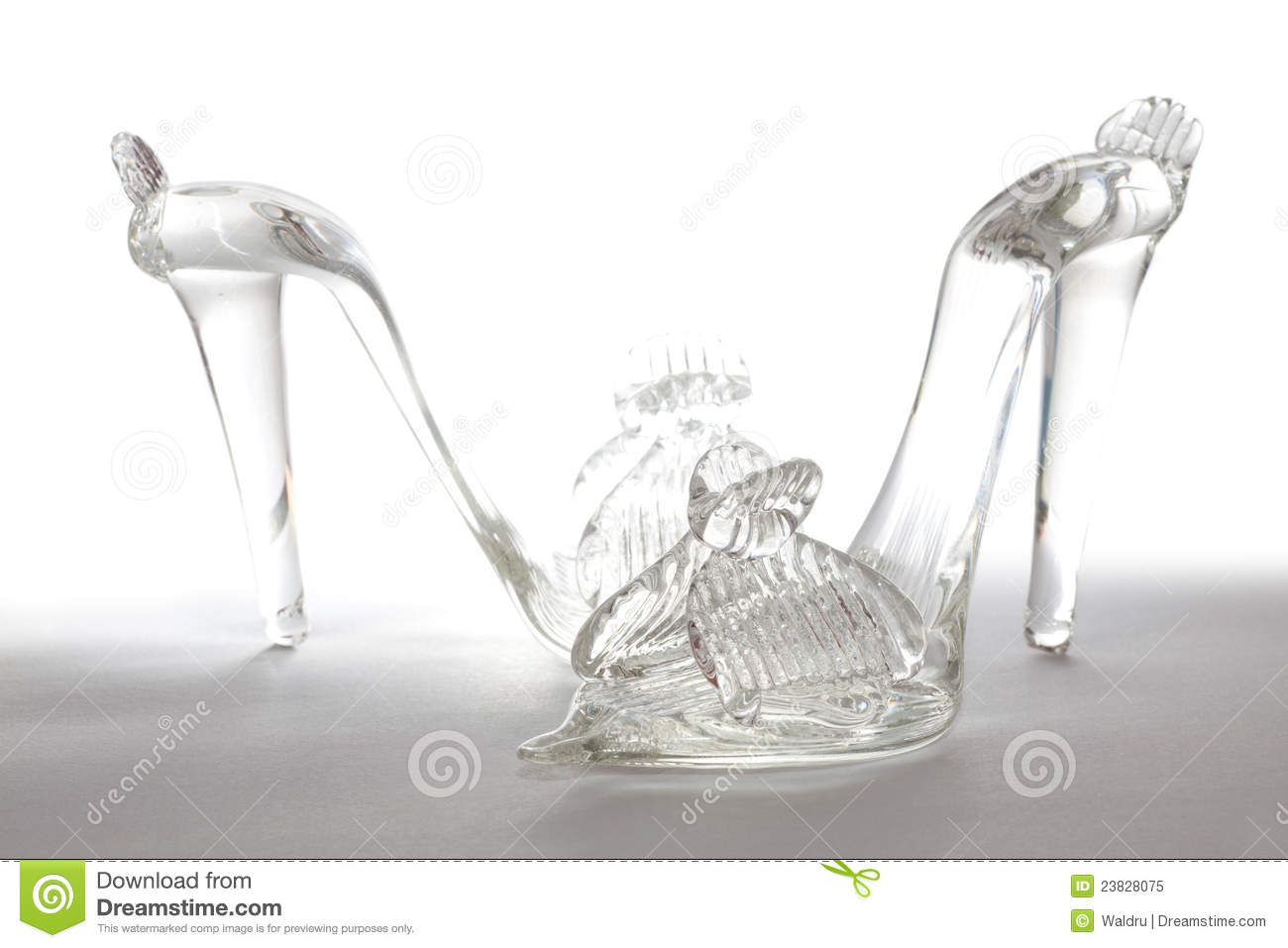 Royalty Free Stock Photo: Glass shoes