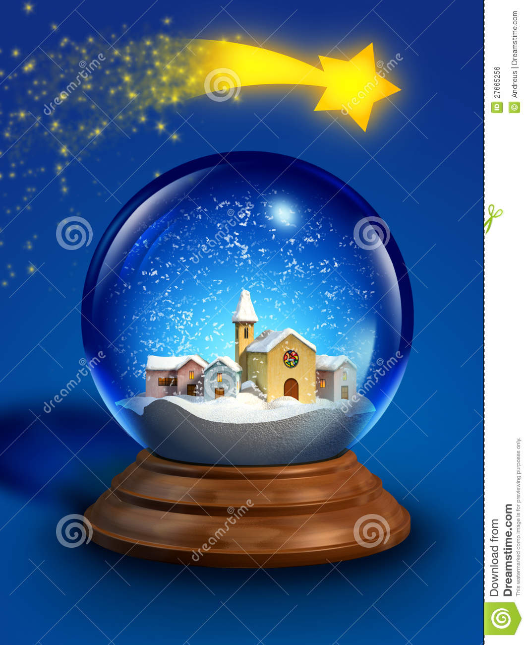 Glass snow ball stock illustration image of design