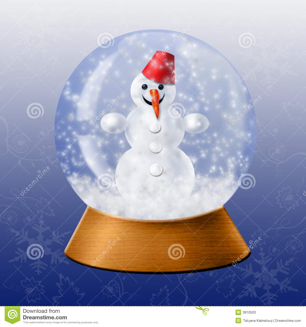 Glass snow ball stock illustration of