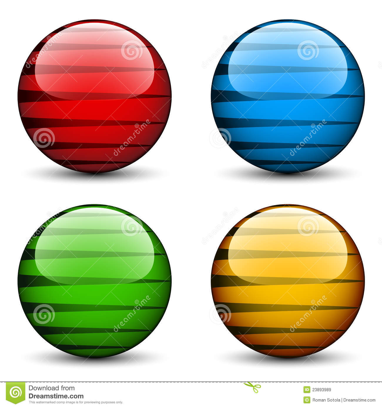 Glass Spheres Royalty Free Stock Images - Image: 23893989