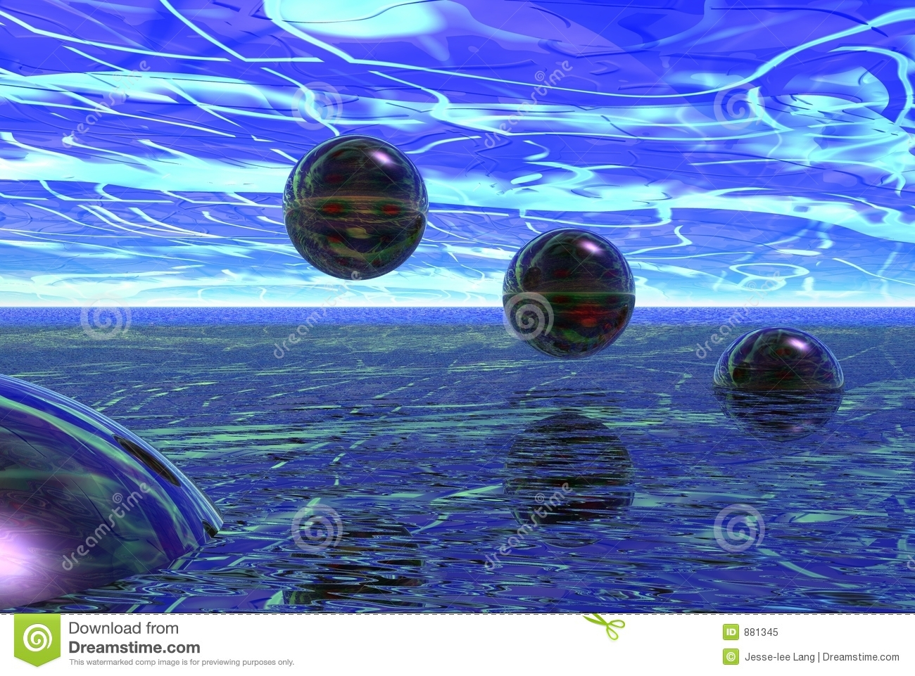 Glass Spheres Royalty Free Stock Photo - Image: 881345