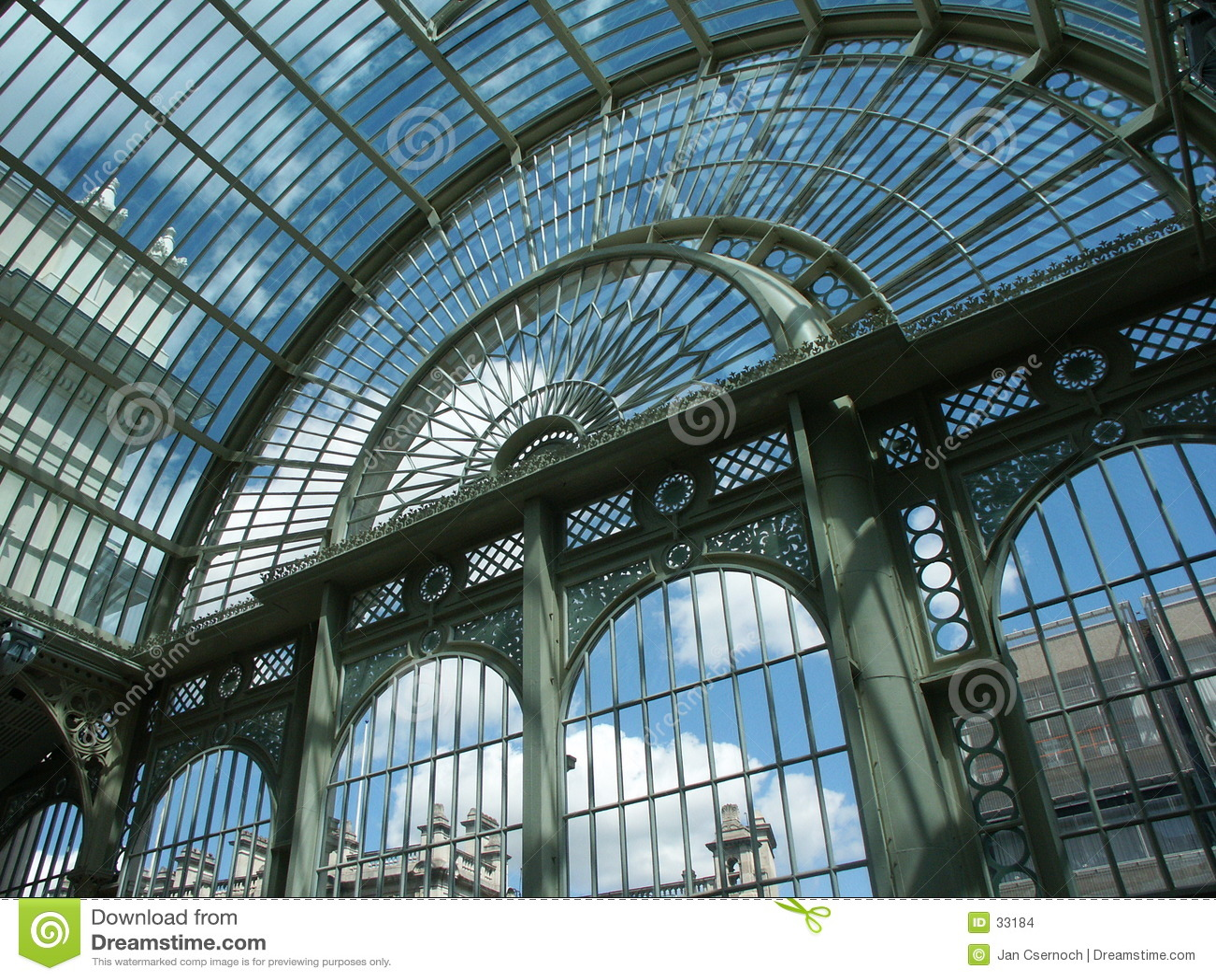 Glass stålstruktur