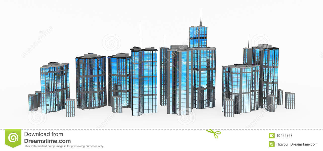 Royalty Free Stock Photos Glass Steel Building Line Image10452768 on Small Modern House Blueprints