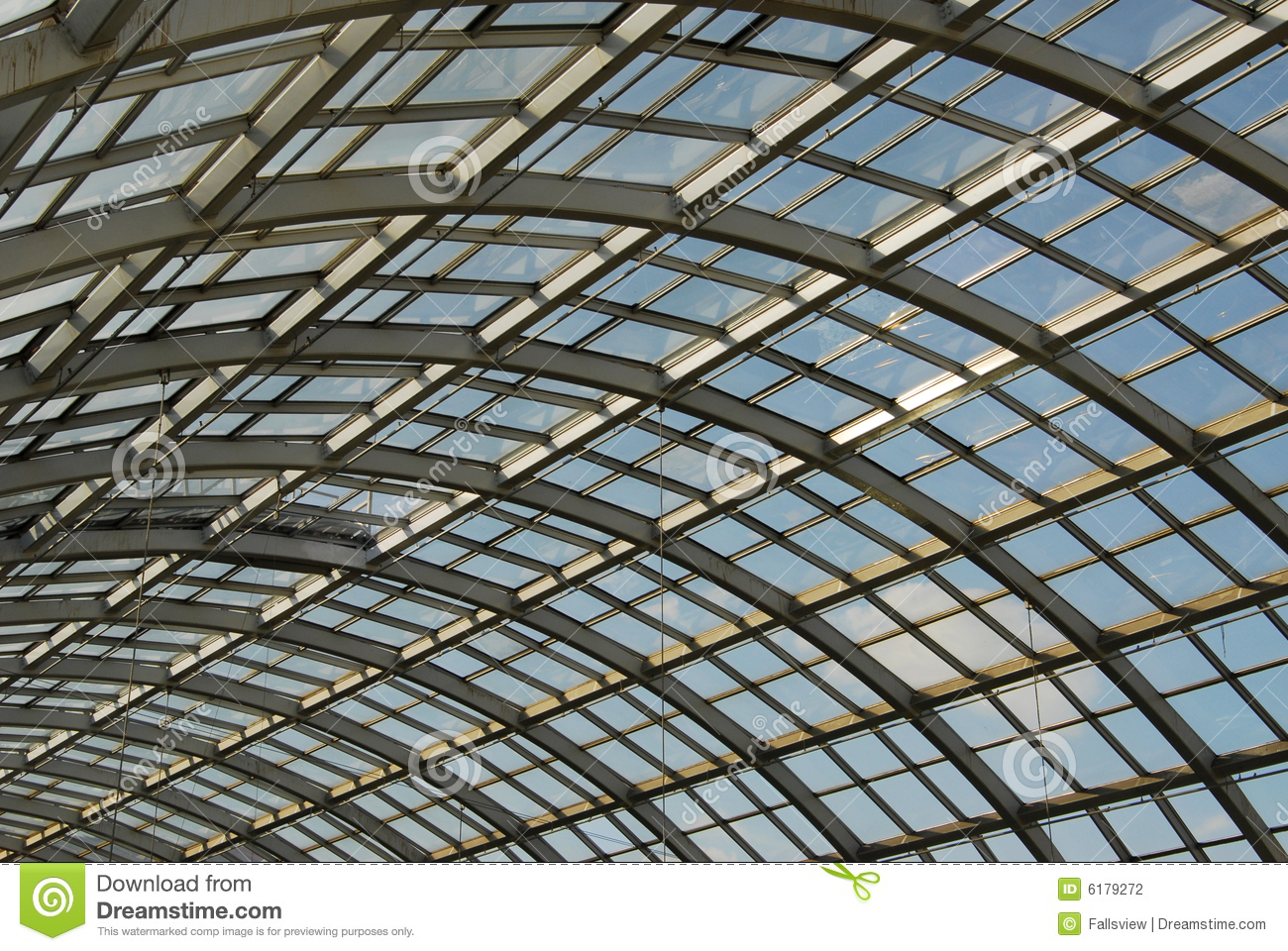 Glass And Steel Roof Structure Stock Photography Image