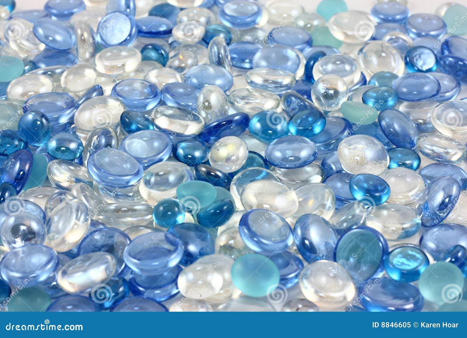 Aqua Glass Pebbles