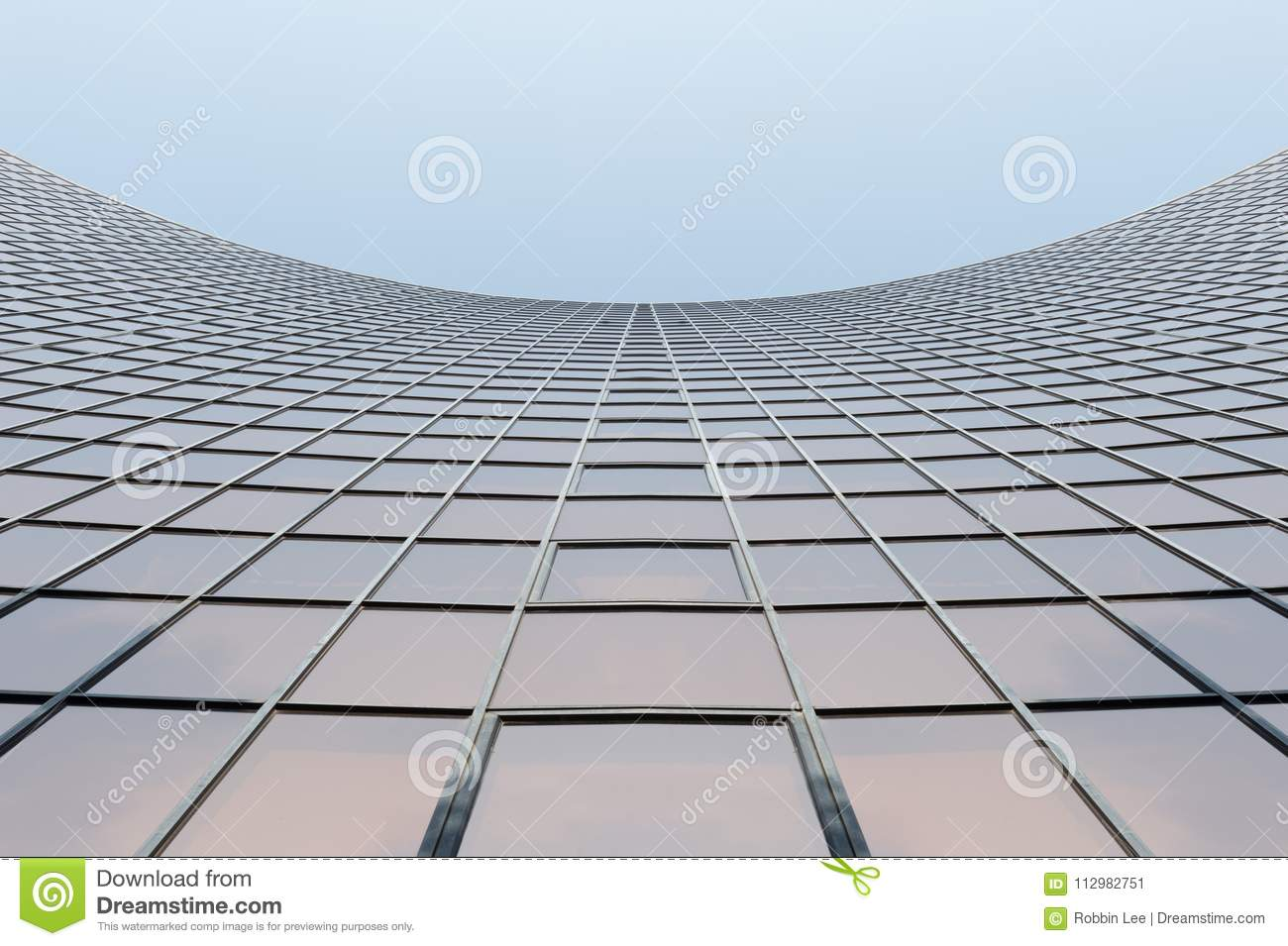 Glass surface of skyscrapers view