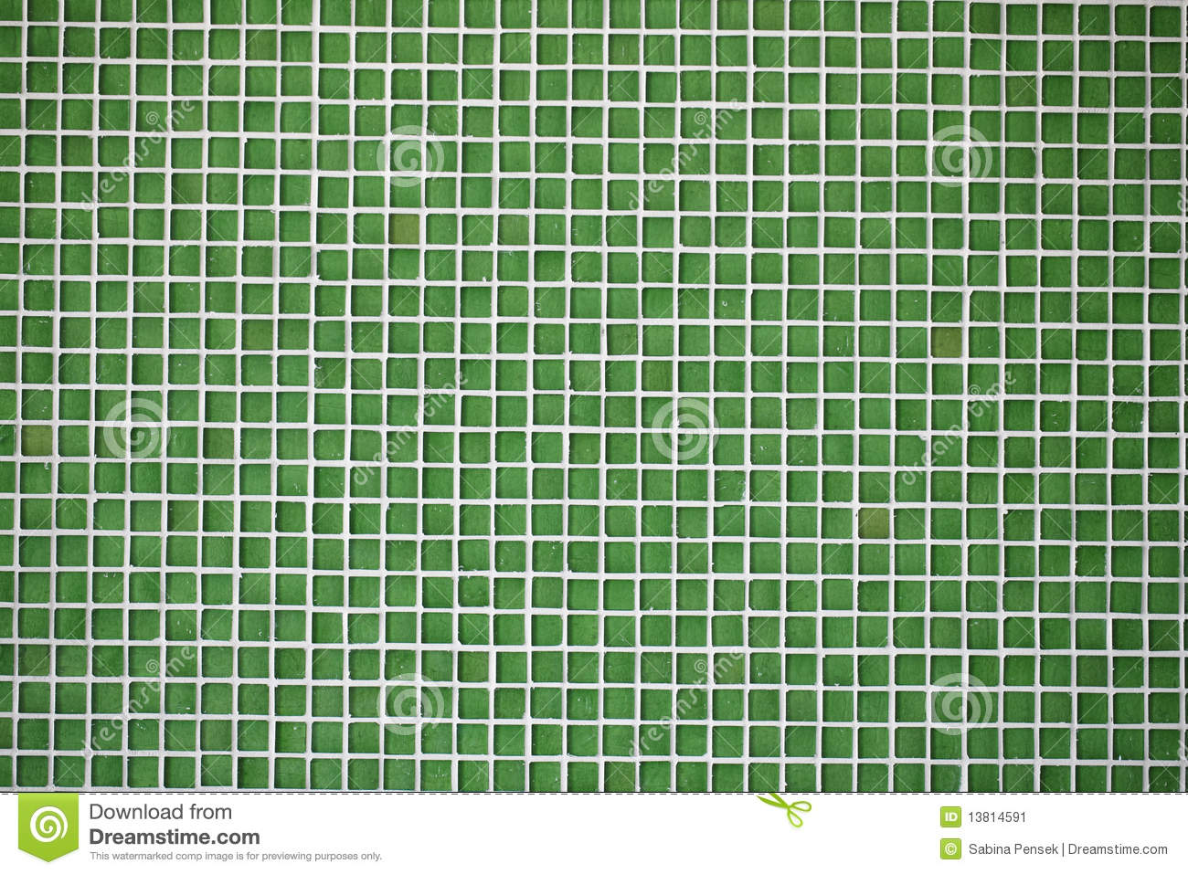 Glass Tiles Green Mosaic Stock Image Image 13814591