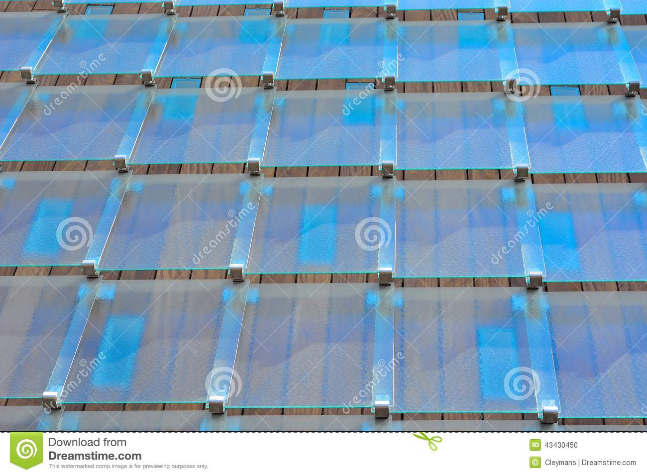 Royalty Free Stock Photo. Download Glass Tiles On A Modern Roof ...