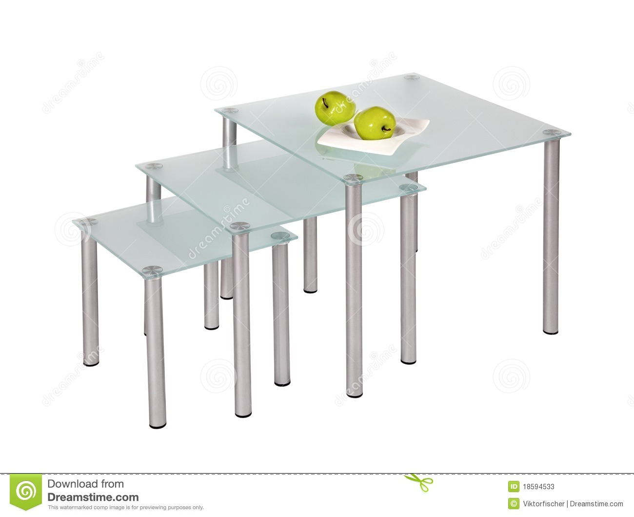 Glass Top Dining Tables Stock Image Image Of Contemporary 18594533