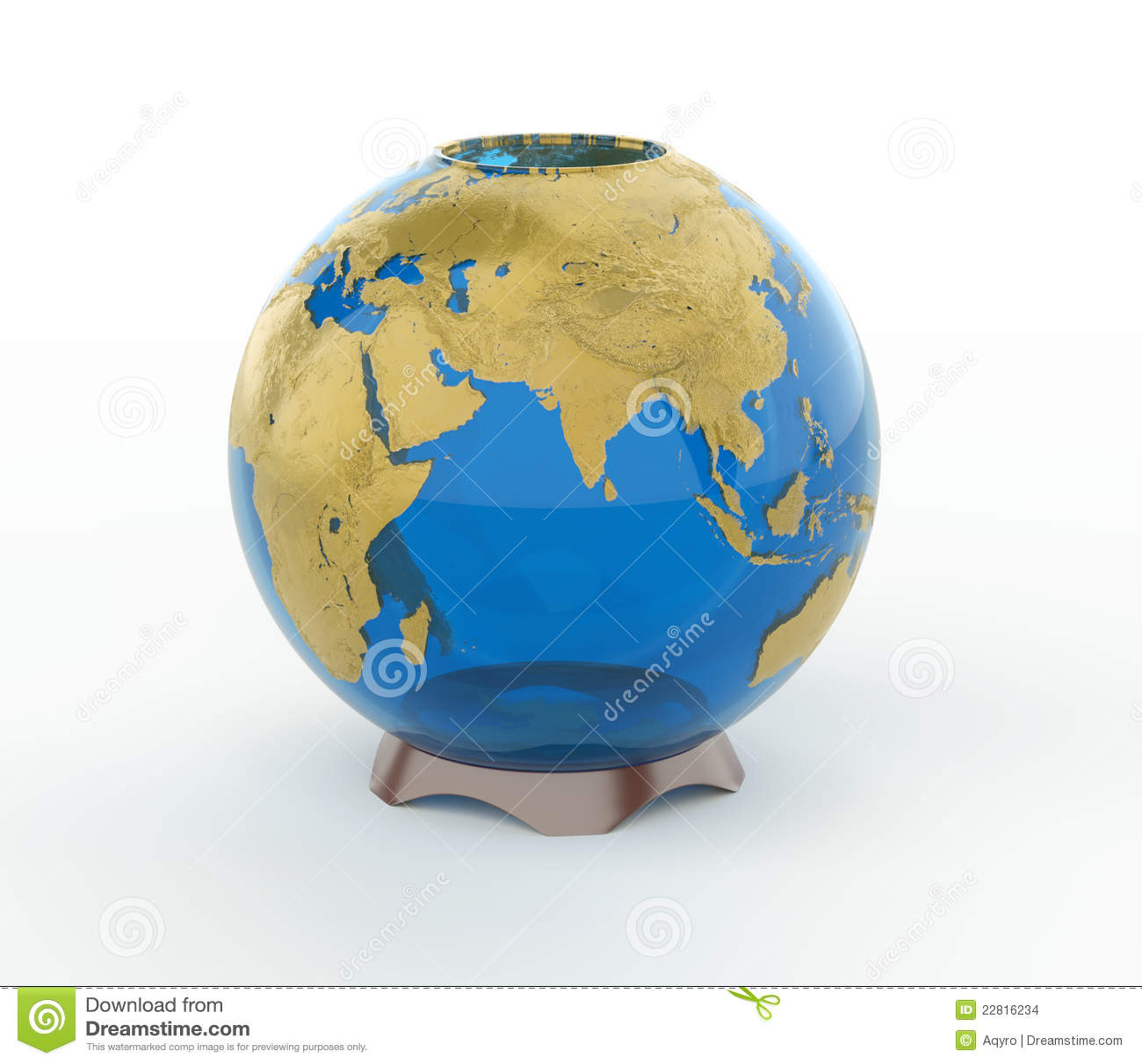 Glass Vase Earth 3d Model Stock Images - Image: 22816234