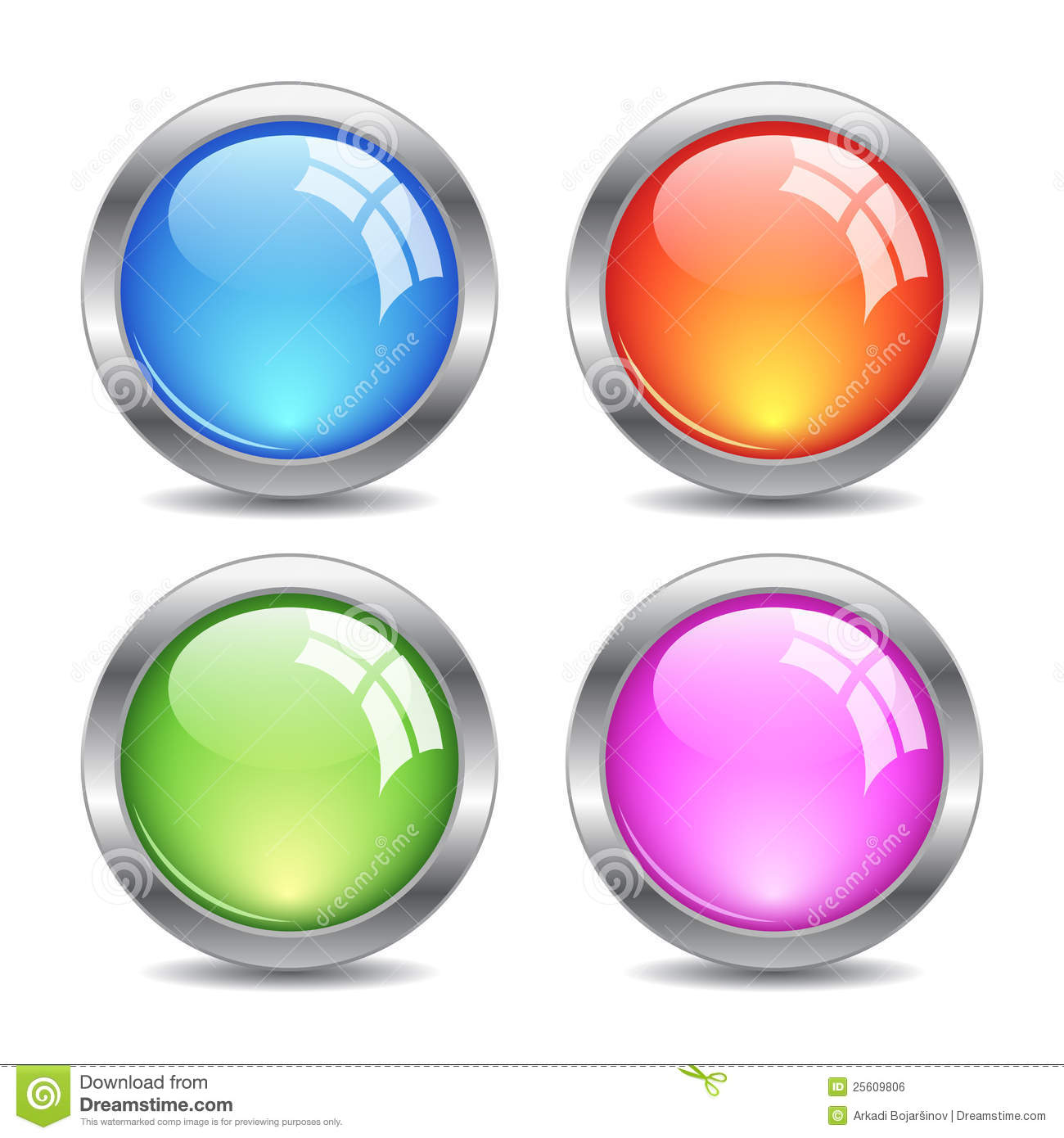 Glass Vector Buttons Royalty Free Stock Image - Image: 25609806