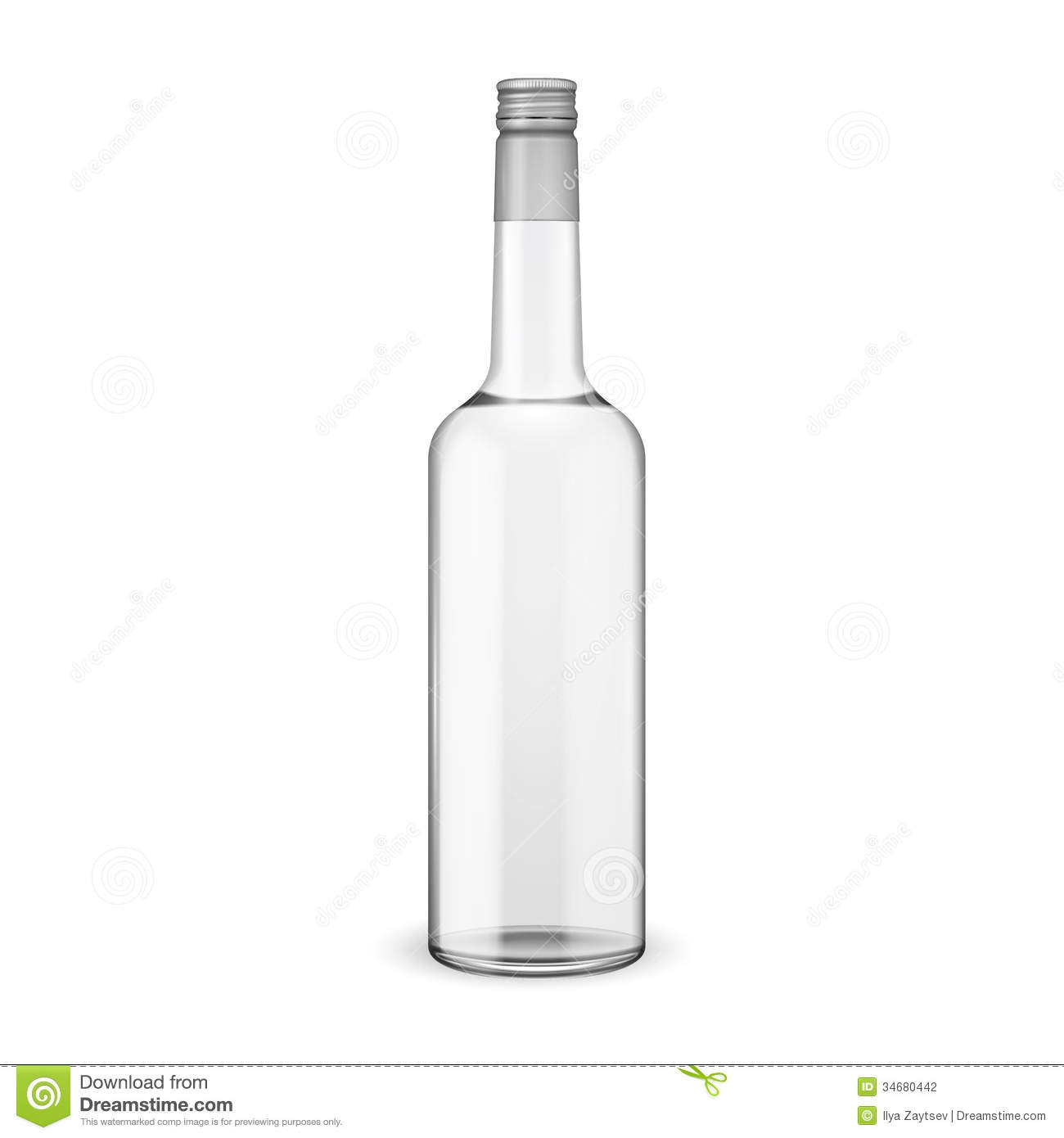 Black And White Glass Bottle Transparent Background