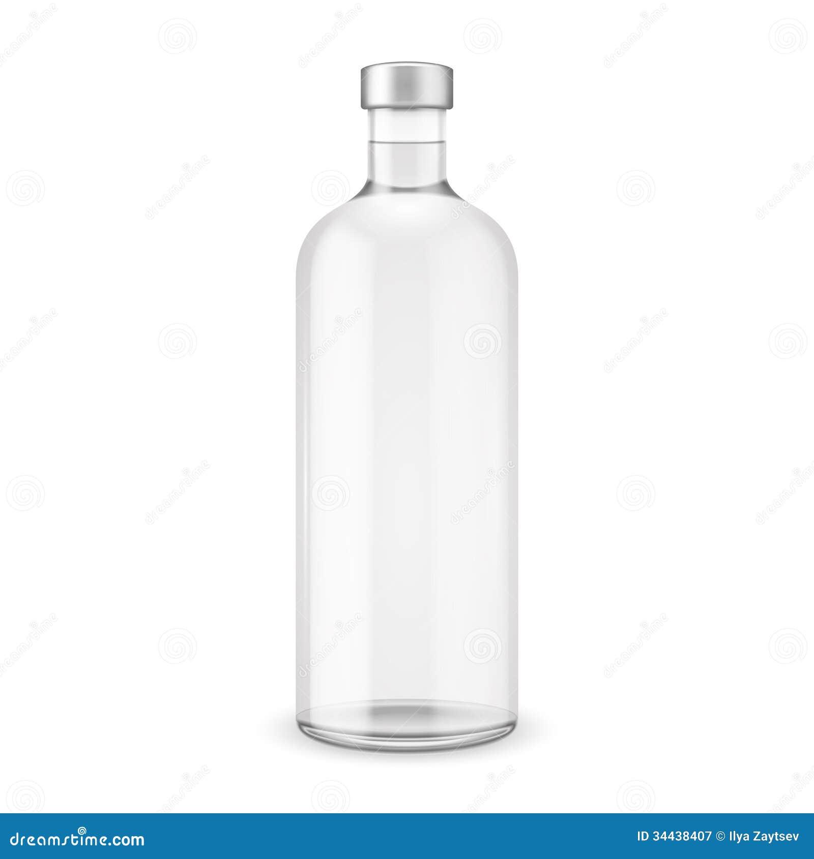 Glass Vodka Bottle Wit...