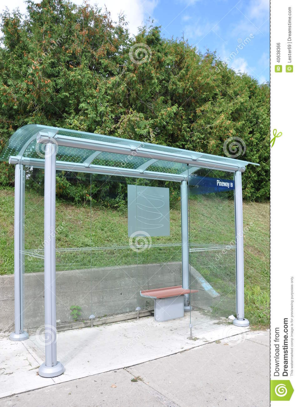 ^ Glass Waiting Shed Stock Photo - Image: 40638366