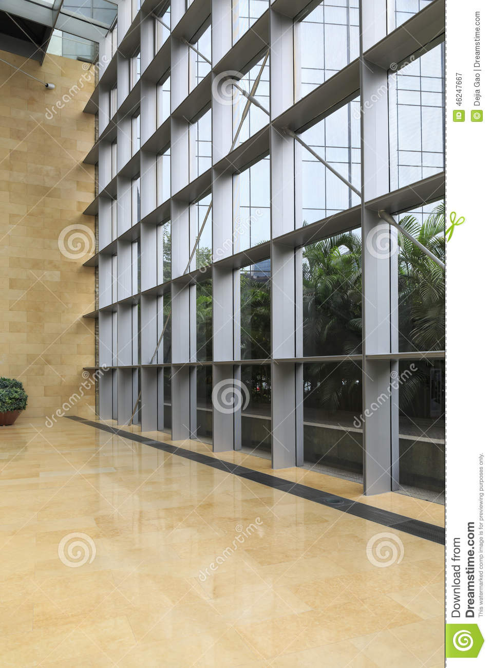Glass wall modern building stock image image of building for Modern office wall