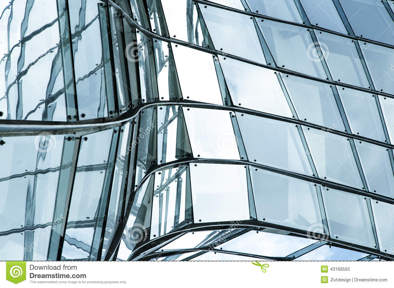 Glass wall stock image  Image of futuristic, building - 43160593