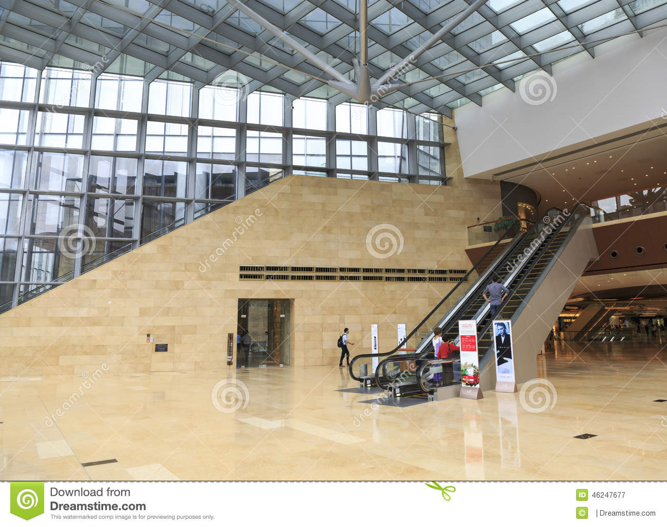 Glass Building Interior : Inside modern office building editorial photography