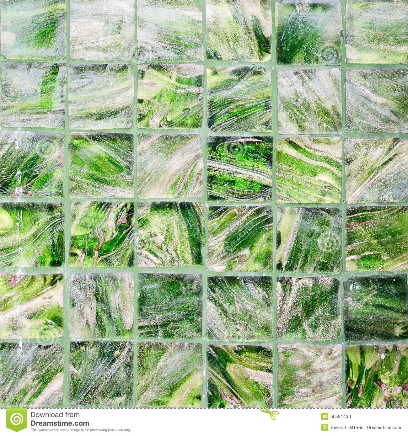 Glass Wall Texture Green Color Glass Wall Stock Photo