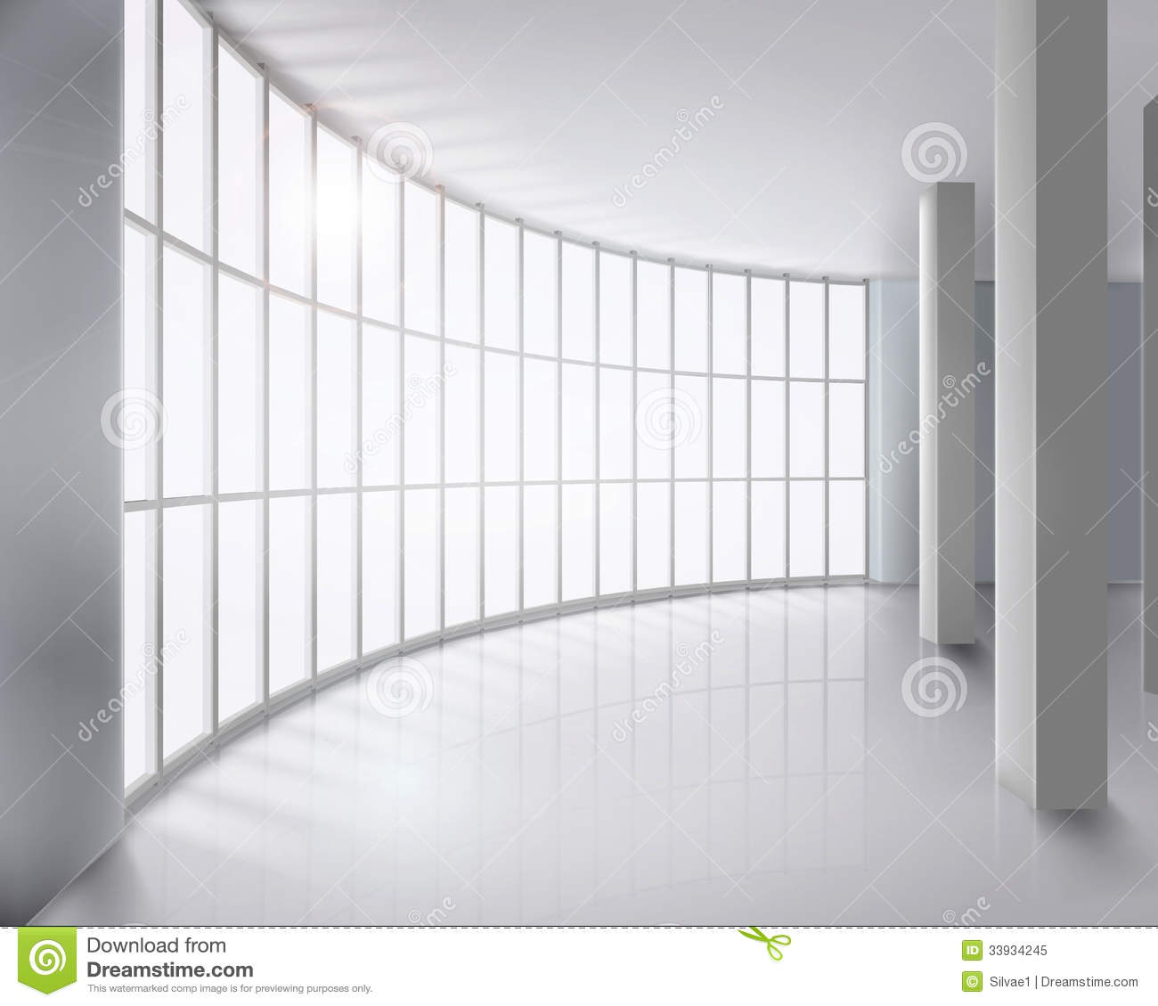 Glass Wall Vector Illustration Stock Vector Image