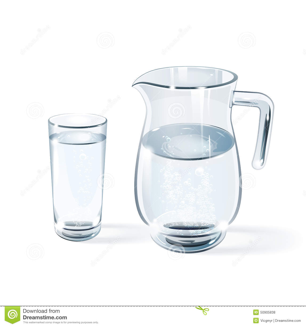 glass of water and glass jug stock vector  image  - glass of water and glass jug stock vector