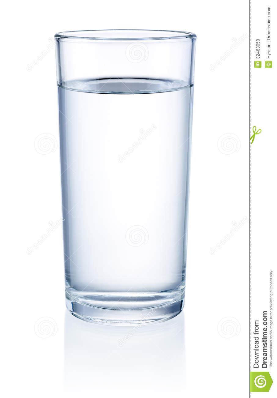 Glass Of Water Isolated On White Background Royalty Free Stock Images ...