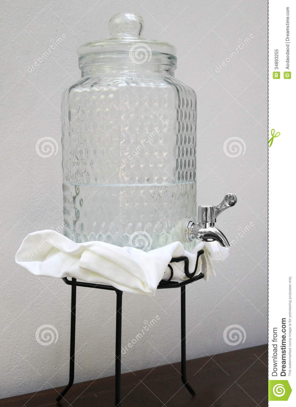 Glass water jug stock image image of machine home faucet 34893255 - Glass filtered water pitcher ...