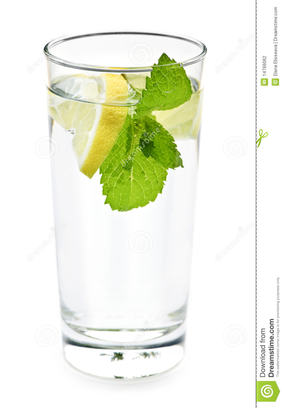 Glass Of Water With Lemon And Mint Stock Photography - Image: 14766062