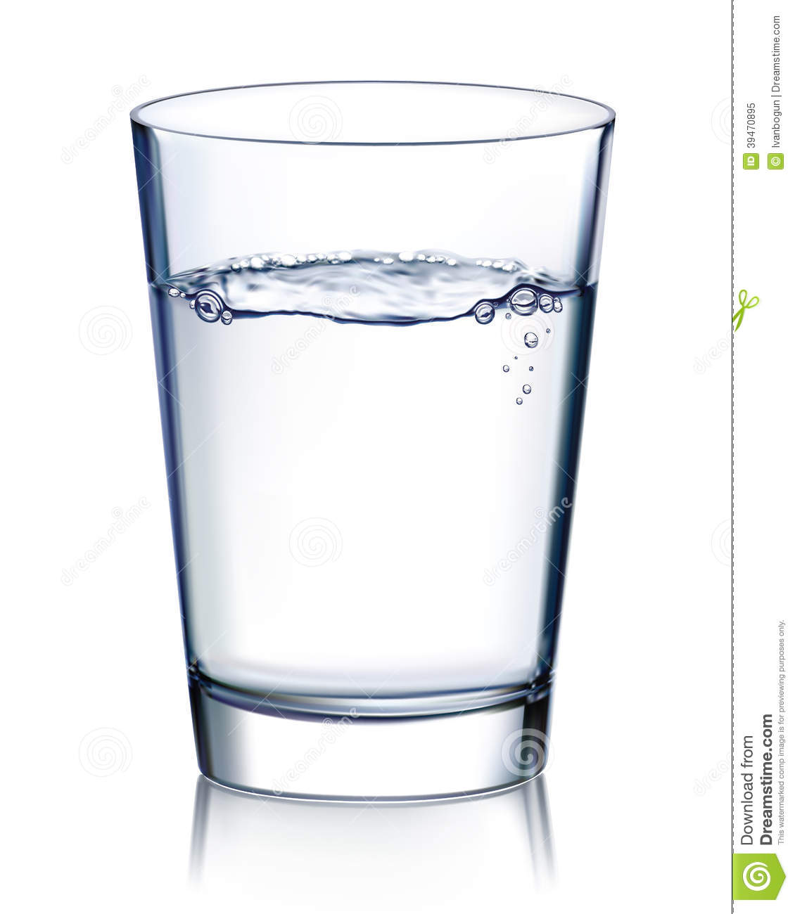 Glass with water vector illustration stock vector image for Water glass images