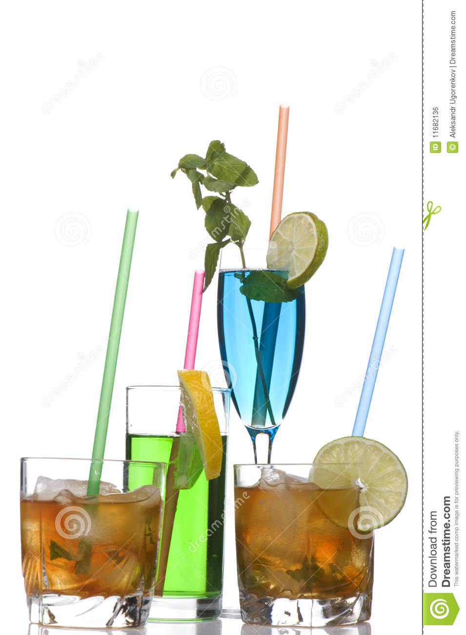 Glass Of Whiskey And Cocktail On Royalty Free Stock Image - Image ...