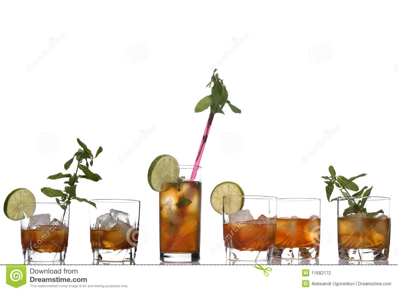 Glass Of Whiskey And Cocktail Stock Photography - Image: 11682172