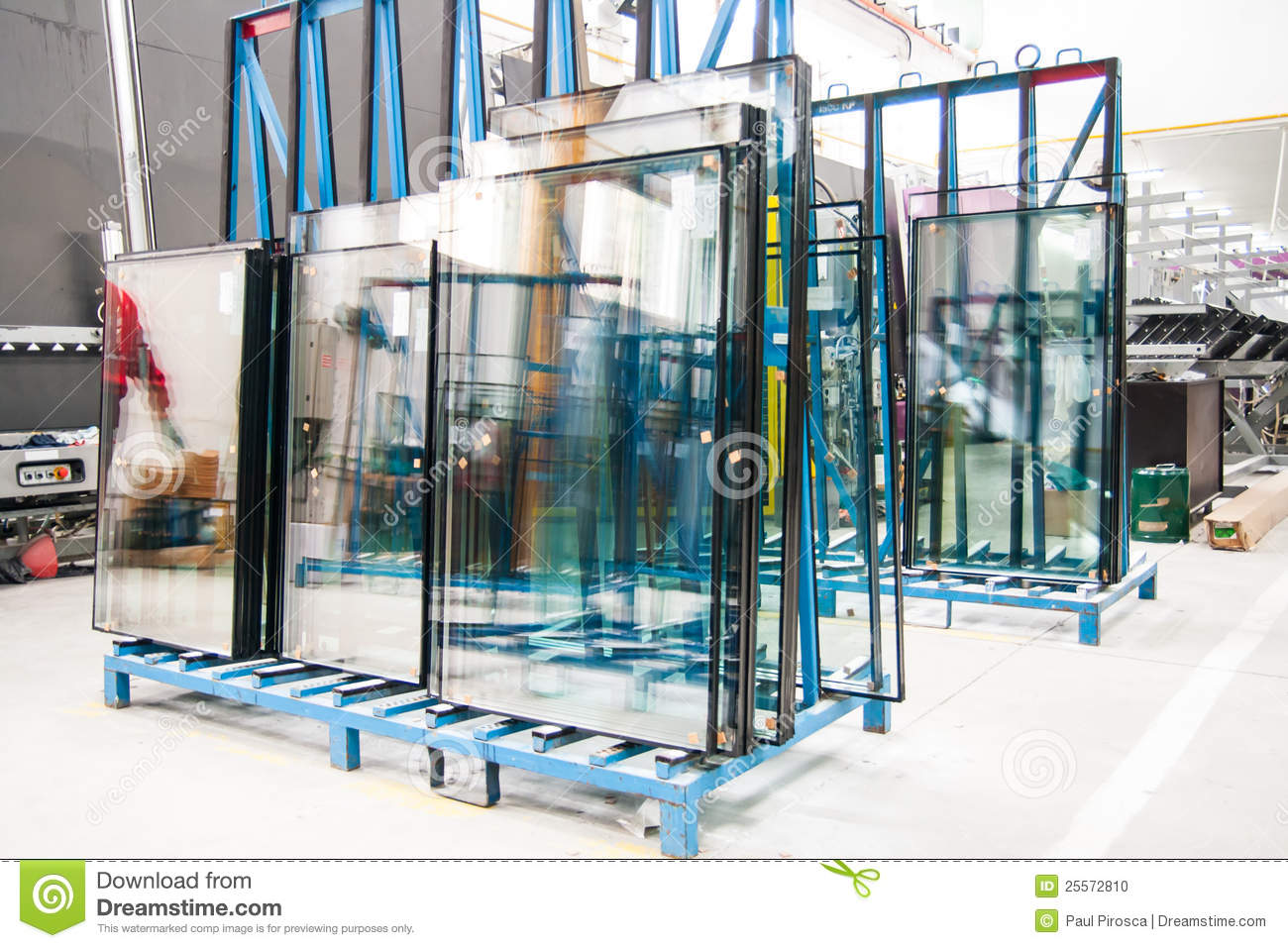 Glass window factory stock photo image of contemporary for Window factory