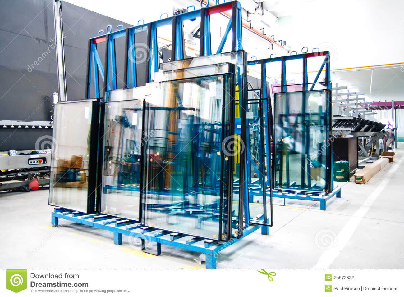 Glass window factory stock photo image of motion for Window factory