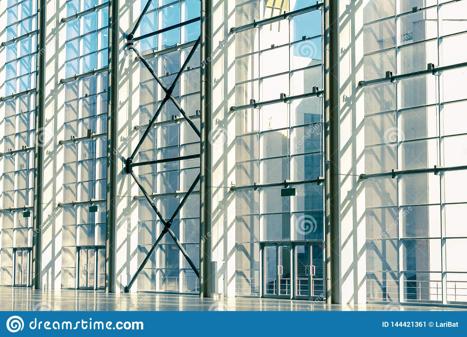 Glass windows, doors, walls in commercial real estate