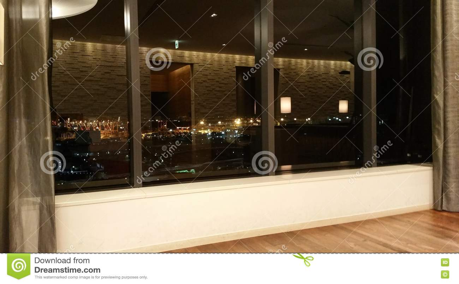 Glass Windows And Night View