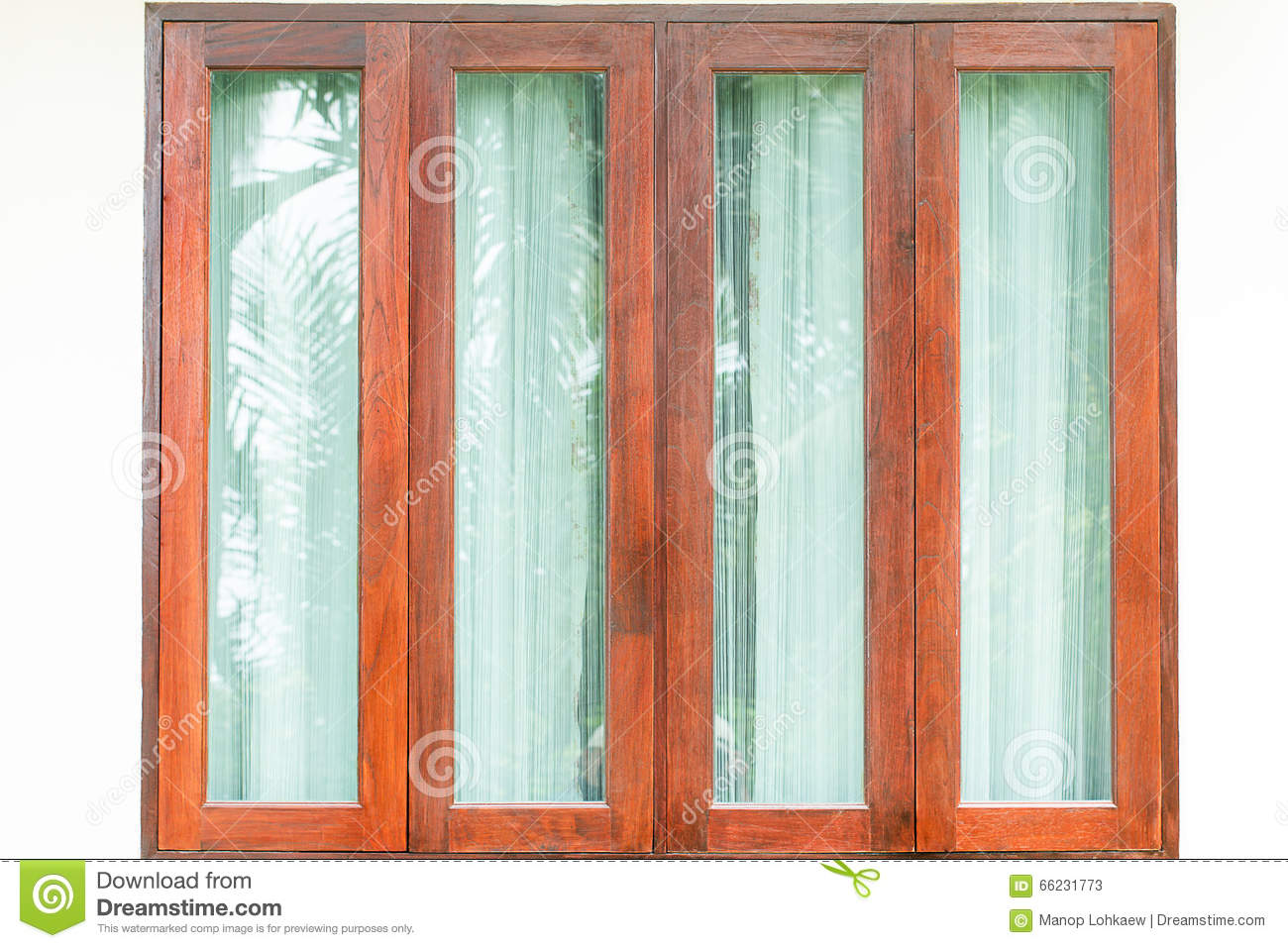 plain glass wall with wooden frame 11