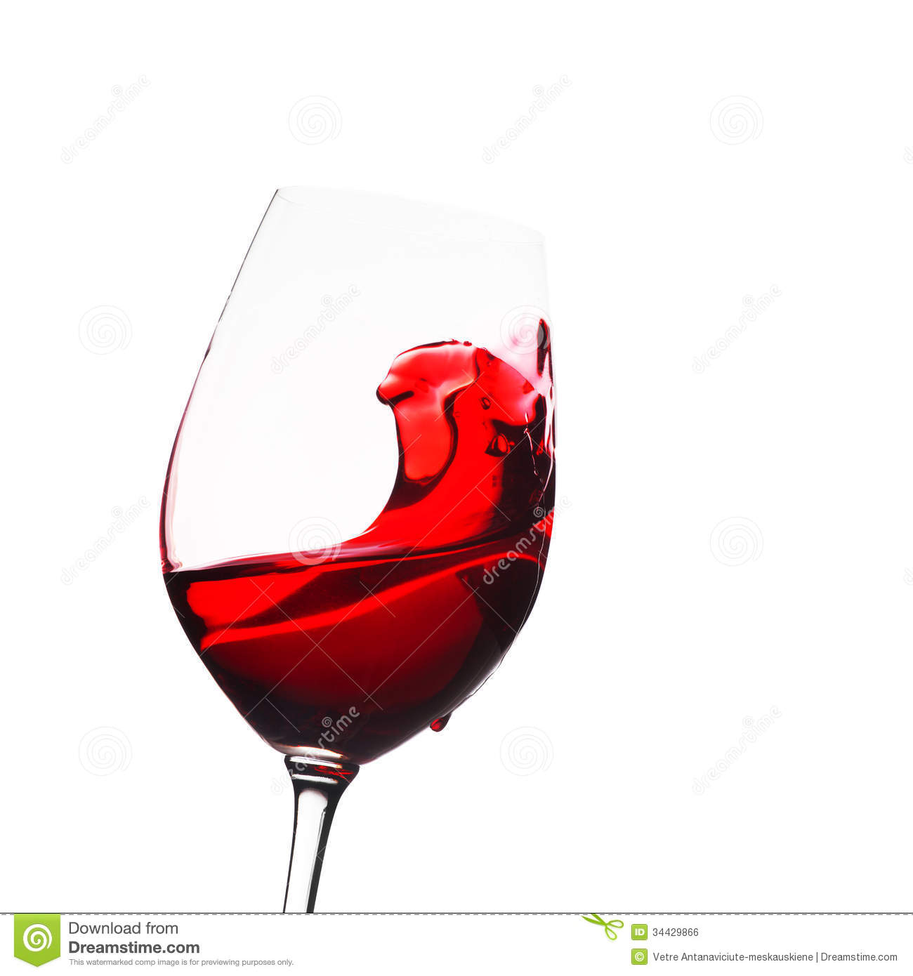 Glass Of Wine With Splash Royalty Free Stock Image - Image ...