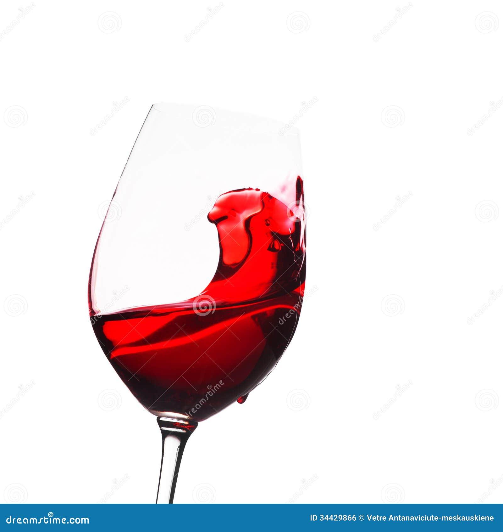 Glass Of Wine With Splash Royalty Free Stock Image - Image ...