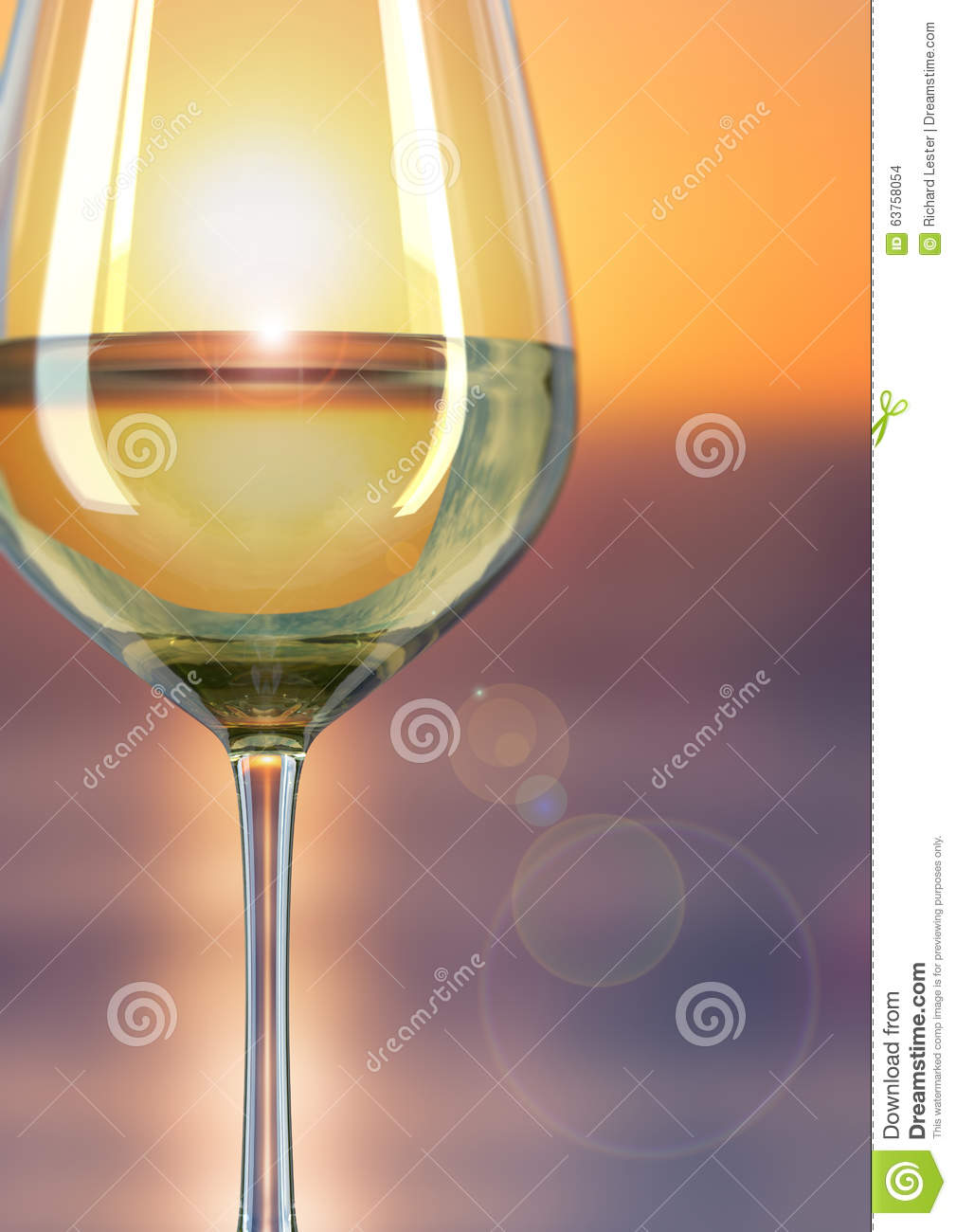 Glass of wine Sunset